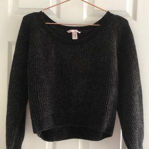 Victoria's Secret Cropped Chenille Sweater